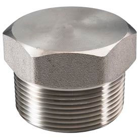 "Ss 304/304l Forged Pipe Fitting 2"" Hex Head Plug Npt Male - Pkg Qty 4"
