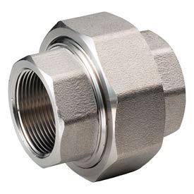 """Ss 304/304l Forged Pipe Fitting 1-1/2"""" Union Npt Female - Pkg Qty 2"""