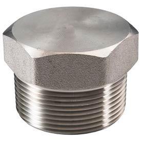 "Ss 316/316l Forged Pipe Fitting 1-1/2"" Hex Head Plug Npt Male - Pkg Qty 5"