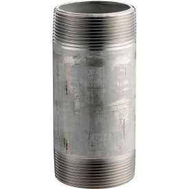 1-1/2 In. X 5 In. 304 Stainless Steel Pipe Nipple - 16168 PSI - Sch. 40 - Domestic