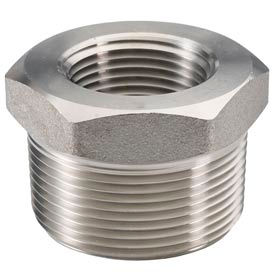 "Ss 304 Barstock Hex Head Bushing 1 X 3/8"" Npt Male X Female - Pkg Qty 10"