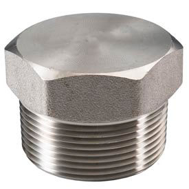"Ss 316 Barstock Hex Head Plug 1"" Npt Male - Pkg Qty 9"