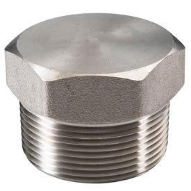 "Ss 316 Barstock Hex Head Plug 1-1/2"" Npt Male - Pkg Qty 4"