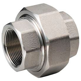 "Ss 316 Barstock Union 3/4"" Npt Female - Pkg Qty 3"