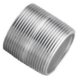 Aluminum Schedule 40 Pipe Nipple 3/8 X Close Npt Male - Pkg Qty 100