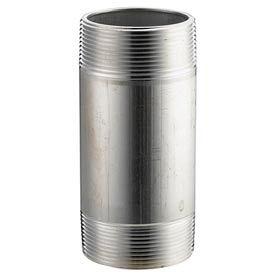 Aluminum Schedule 40 Pipe Nipple 4 X 8 Npt Male - Pkg Qty 3