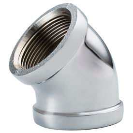 Chrome Plated Brass Pipe Fitting 1/2 45 Degree Elbow Npt Female - Pkg Qty 25