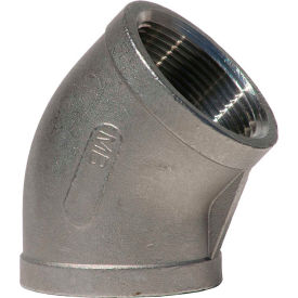 2 In. 304 Stainless Steel 45 Degree Elbow - FNPT - Class 150 - 300 PSI - Import