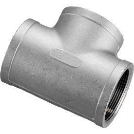 1-1/4 In. 304 Stainless Steel Tee - FNPT - Class 150 - 300 PSI - Import