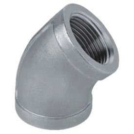 """Iso Ss 316 Cast Pipe Fitting 45 Degree Elbow 3/4"""" Npt Female - Pkg Qty 25"""
