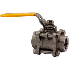 1-1/2 In. T316 Stainless Steel Full Port Ball Valve - 3 Piece - 1000 PSI - Pkg Qty 5