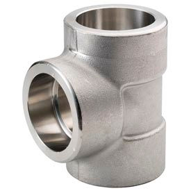 """Ss 304/304l Forged Pipe Fitting 1/2"""" Tee Socket Weld - Pkg Qty 8"""