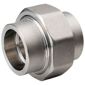 """Ss 304/304l Forged Pipe Fitting 1"""" Union Socket Weld - Pkg Qty 3"""