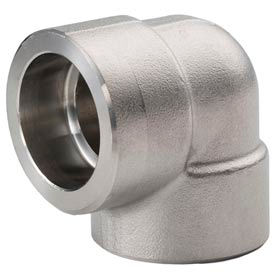 """Ss 316/316l Forged Pipe Fitting 1-1/2"""" 90 Degree Elbow Socket Weld - Pkg Qty 2"""