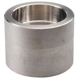 """Ss 316/316l Forged Pipe Fitting 1-1/4 X 1/2"""" Reducing Coupling Socket Weld - Pkg Qty 3"""