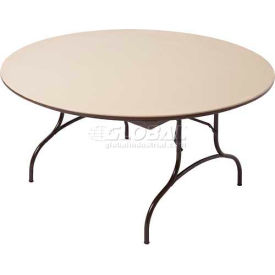 "Mity-Lite ABS Folding Tables Round 72"" Brown Texture by"