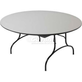 "Mity-Lite ABS Folding Tables Round 72"" Gray Texture by"