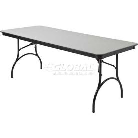 """Mity-Lite ABS Folding Tables - Rectangle - 30""""X 72"""" Speckled Gray Smooth - Pkg Qty 4"""