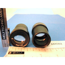 Meiji Techno MA502 Super Wide Field 10X Eyepieces (Paired), Field No. 23