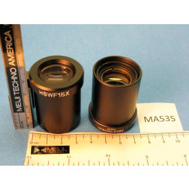 Meiji Techno MA535 Super Wide Field High Eyepoint 15X Eyepieces (Paired), Field No. 16