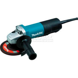 "Makita 9558PB 5"" Angle Grinder 7.5 Amp 10,000 RPM 5/8""-11 Paddle Switch AC/DC Lock-Off/On"