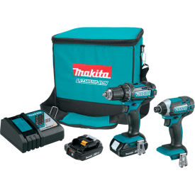 Makita CT225R 18V LXT Lithium‑Ion Compact Cordless 2 Pc. Combo Kit XFD10Z & XDT11Z (2.0Ah)