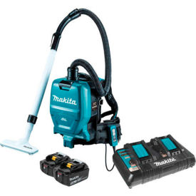 Makita XCV05PT 18V X2 36V Brushless Cordless 1/2 Gal HEPA Filter Backpack Dry Dust Vacuum Kit 5.0Ah by