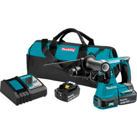 "Makita XRH01T 18V LXT Lithium-Ion Brushless Cordless 1"" Rotary Hammer Kit (5.0Ah) by"