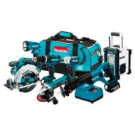 Makita® LXT702, 18V LXT Lithium-Ion Cordless 7-Pc. Combo Kit
