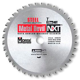 "Circular Saw Blade 7"" Dia. 40 TPI 20mm Arbor USA M.K. Morse Metal Devil NXT CSM740NSC by"