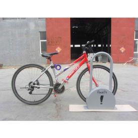 """RackiT™ Lock Bike Rack, Galvanized Steel, 21-1/4""""L x 4-15/16""""W x 35-7/16""""H"""