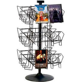 Marv-O-Lus Counter DVD Rack, 24 Pocket Tier, Black, 156-1DVD by