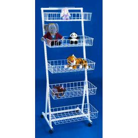 Marv-O-Lus Versa-Rack W/ 5 Baskets, 5 Step Design, White, 84-5B24-12-4