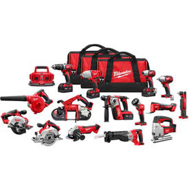 Milwaukee 2695-15 M18 Combo 15 Tool Kit W/4 Xc Batteries by
