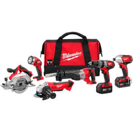 Milwaukee® 2696-26 M18™ Cordless Li-Ion 6-Tool Combo Kit