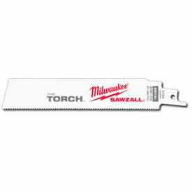 "Milwaukee® 48-00-8784 6"" 18 TPI The Torch™ SAWZALL® Blade (25 Pack)"