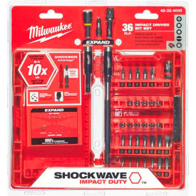 Milwaukee® 48-32-4005 SHOCKWAVE™ 36-Piece Impact Driver Bit Set