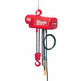 Milwaukee® 1 Ton Electric Chain Hoist 10' Lift 115/230V 1-Phase