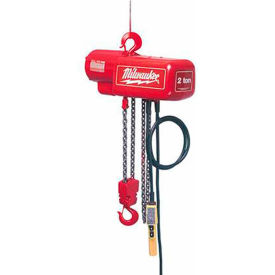 Milwaukee® 1 Ton Electric Chain Hoist - 15' Lift 115/230V, 1-Phase