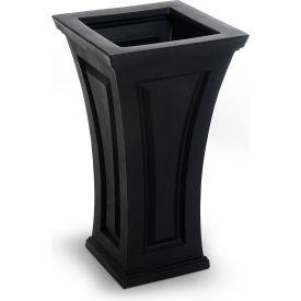 "Mayne® Cambridge Tall Planter, 16""L x 16""W x 28-1/2""H, Square, Black"