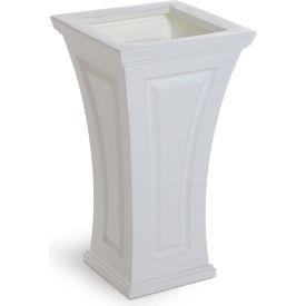 "Mayne® Cambridge Tall Planter, 16""L x 16""W x 28-1/2""H, Square, White"