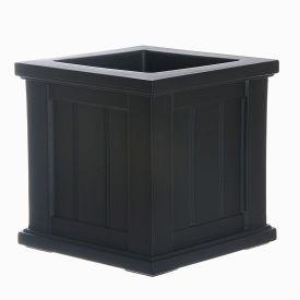 """Mayne® Cape Cod Patio Planter, 14""""L x 14""""W x 14""""H, Square, Black"""