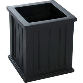 """Mayne® Cape Cod Patio Planter, 16""""L x 16""""W x 18""""H, Square, Black"""