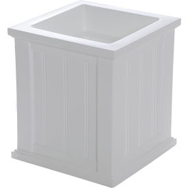 "Mayne® Cape Cod Patio Planter, 16""L x 16""W x 18""H, Square, White"