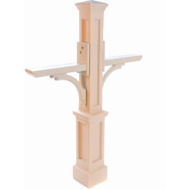 """Mayne Newport Plus Double Mailbox Post 5814-C - 56""""H Clay"""