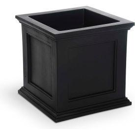 "Mayne® Fairfield Patio Planter, 20""L x 20""W x 20""H, Square, Black"