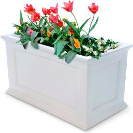 "Mayne® Fairfield Patio Planter, 36""L x 20""W x 20""H, Rectangular, White"