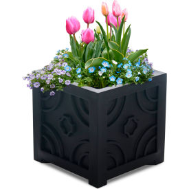 "Mayne® Savannah Patio Planter, 16""L x 16""W x 16""H, Square, Black"