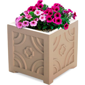 "Mayne® Savannah Patio Planter, 16""L x 16""W x 16""H, Square, Clay"