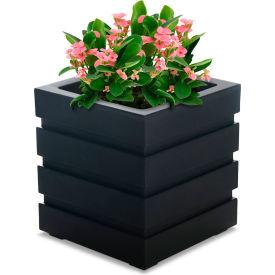 "Mayne® Freeport Patio Planter, 18""L x 18""W x 20""H, Square, Black"